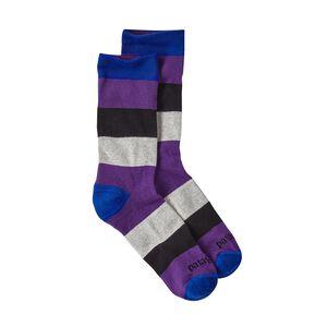 メンズ・ライトウェイト・クルー・ソックス, Contact Stripe: Purple (CTPL)