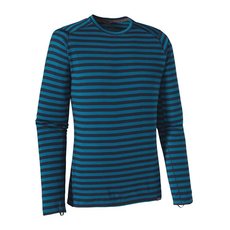 M'S MERINO TW CREW, Pearson Stripe: Navy Blue/Underwater Blue (PSNU)