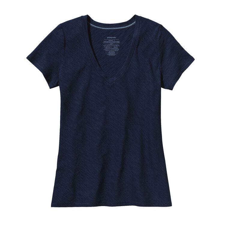 W'S NECESSITY V-NECK, Navy Blue (NVYB)