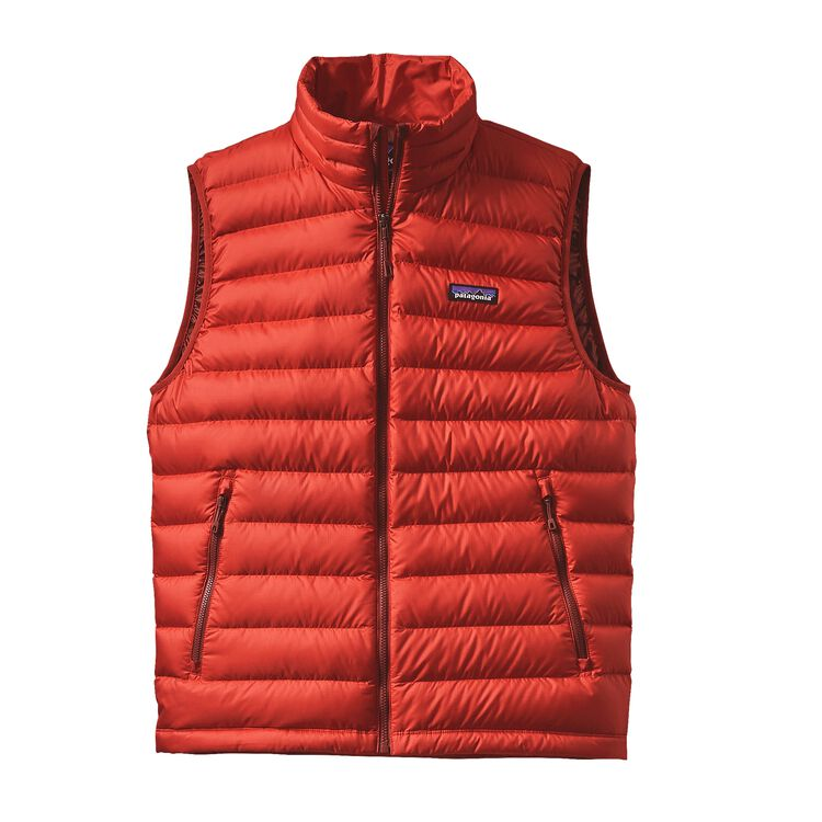 M'S DOWN SWEATER VEST, Ramble Red (RMBR)