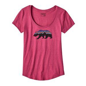 ウィメンズ・フィッツロイ・ベア・オーガニックコットン/ポリ・スクープ・Tシャツ, Craft Pink (CFTP)