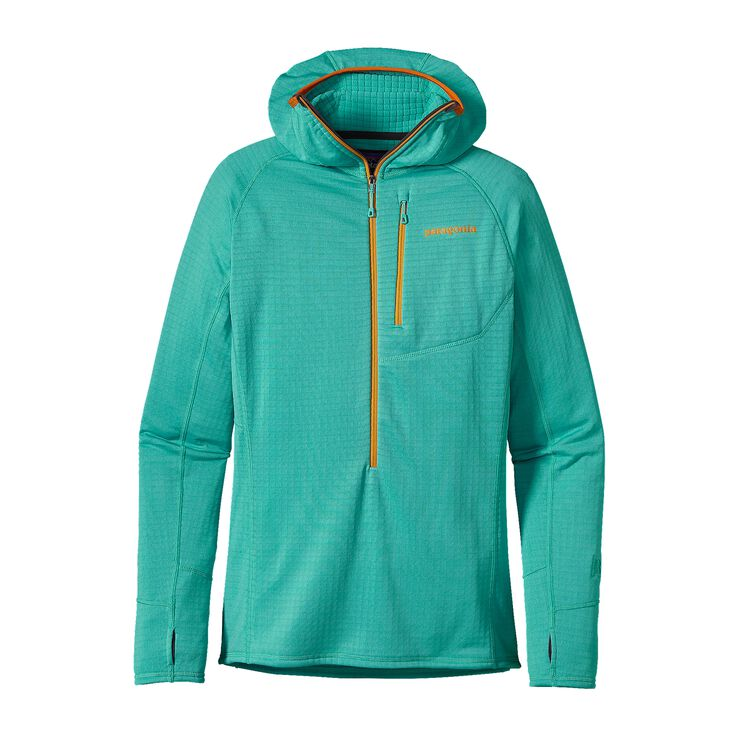 W'S R1 HOODY, Howling Turquoise (HWLT)
