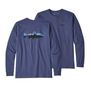 M's Long-Sleeved Fitz Roy Trout Responsibili-Tee®, Dolomite Blue (DLMB)