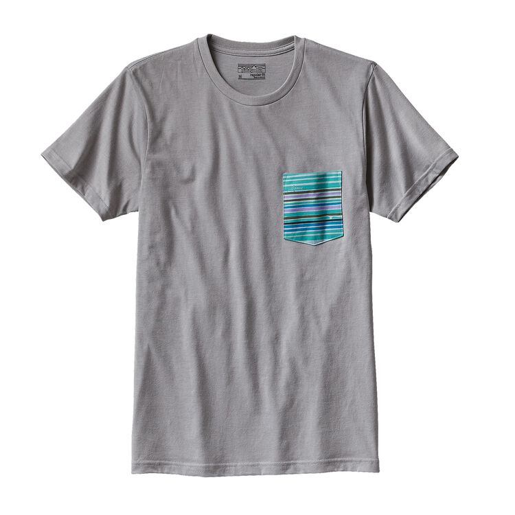 M'S HORIZON LINE-UP COTTON/POLY POCKET T, Drifter Grey (DFTG)