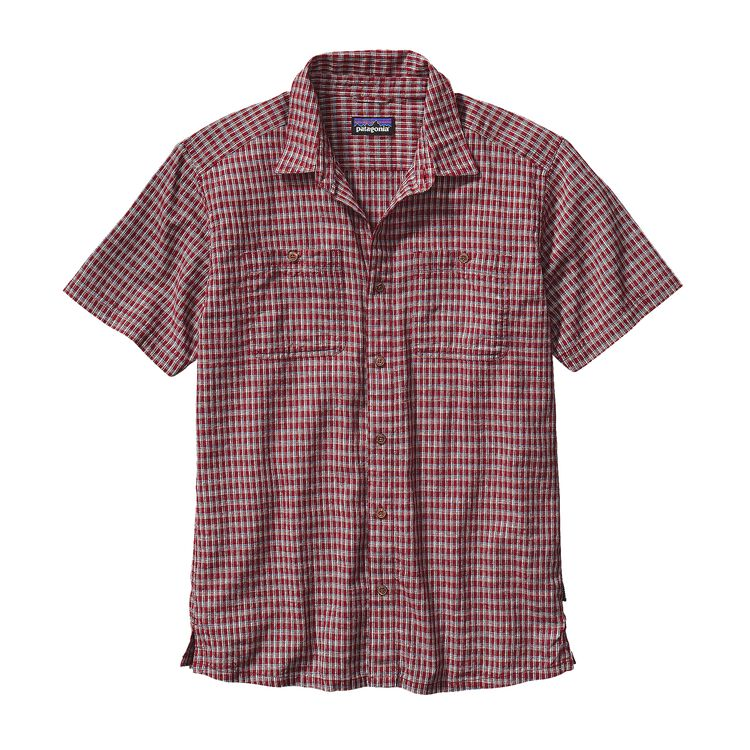 M'S BACK STEP SHIRT, Berdoo: Drumfire Red (BODR)