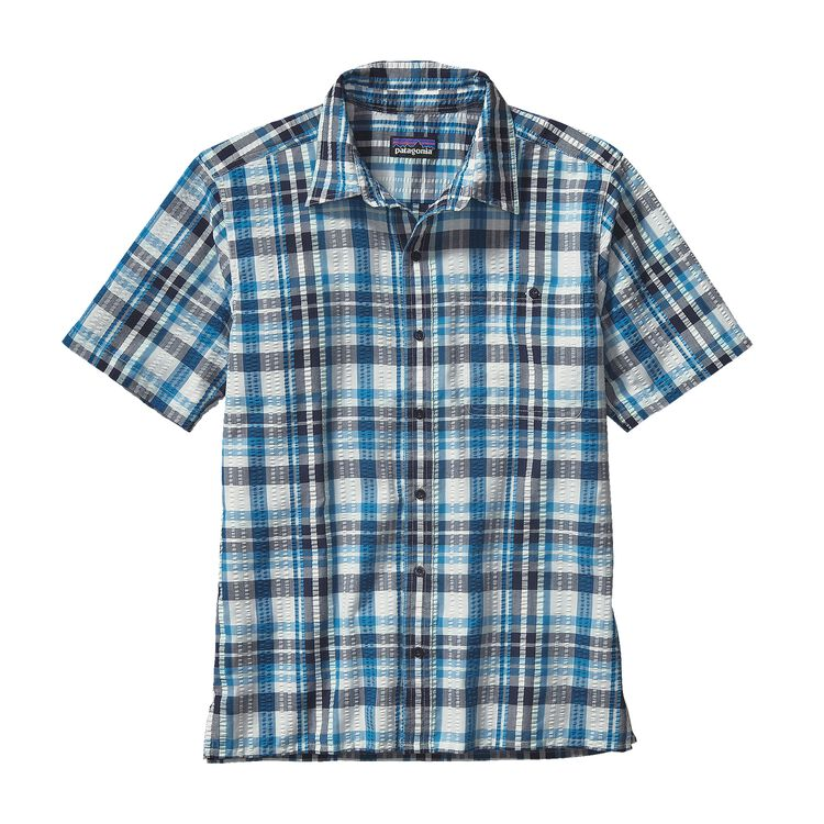 M'S PUCKERWARE SHIRT, Sisquoc: Underwater Blue (SQUB)