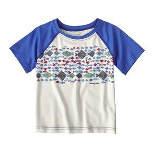 ベビー・キャプリーン・シルクウェイト・Tシャツ, Birch White w/Imperial Blue (BWIM)