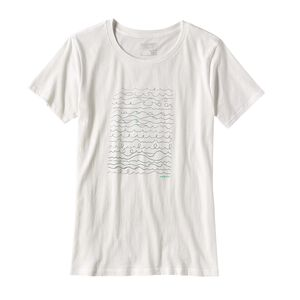 W's Surf Writer Cotton Crew T-Shirt, White (WHI)