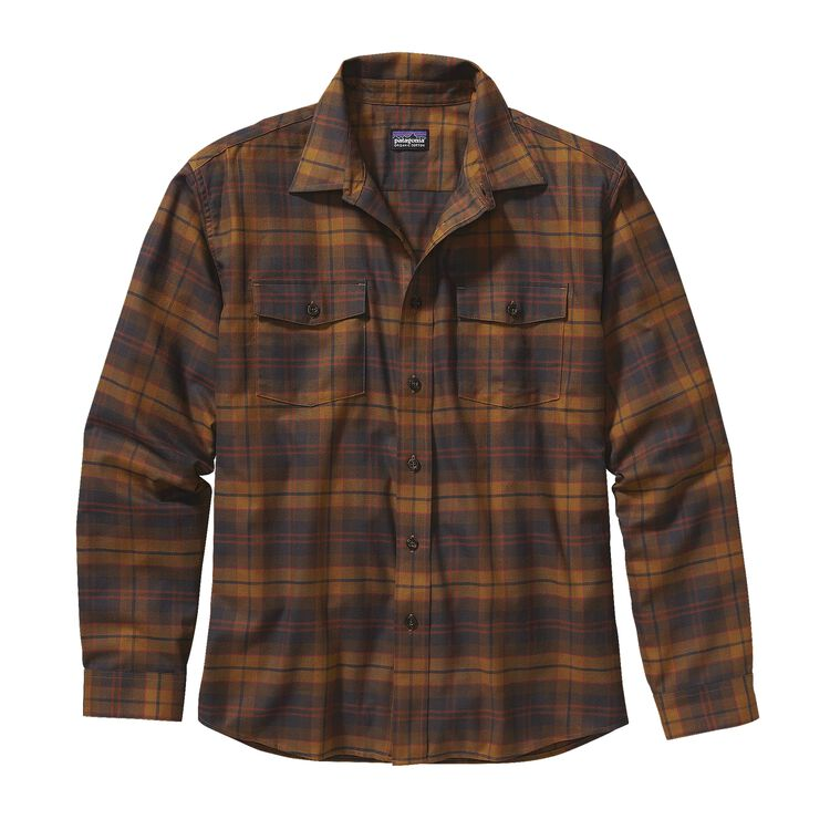 M'S L/S BUCKSHOT SHIRT, Nesting: Bear Brown (NSTB)