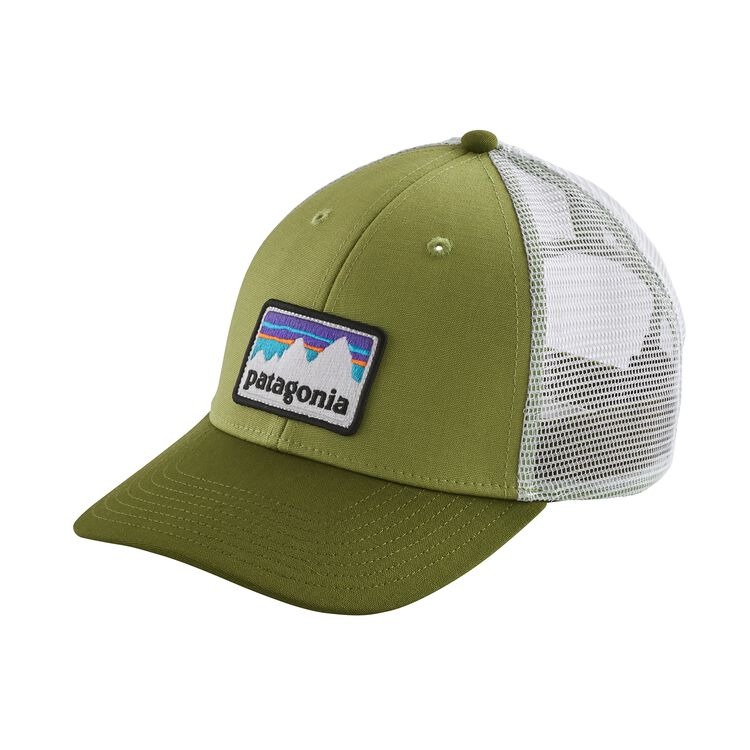 SHOP STICKER PATCH LOPRO TRUCKER HAT, Crag Green (CRGN)