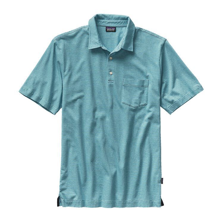M'S SQUEAKY CLEAN POLO, Fathom: Howling Turquoise (FMHT)