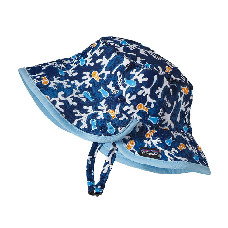 BABY LITTLE SOL HAT, Seaweed Fish: Channel Blue (SWCB)