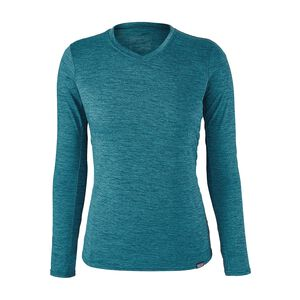 W's Capilene® Daily Long-Sleeved T-Shirt, Elwha Blue - Navy Blue X-Dye (EWNX)