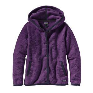 ウィメンズ・シアーリング・フリース・フーデッド・カーディガン, Panther Purple (PANP)