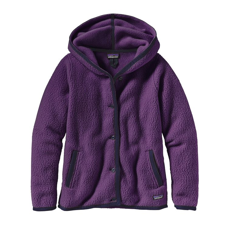 W'S SHEARLING FLEECE HOODED CARDIGAN, Panther Purple (PANP)