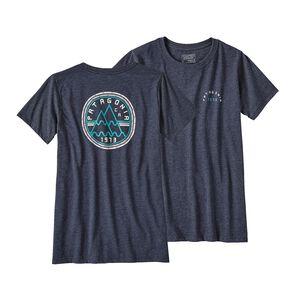 ウィメンズ・マウント・マインデッド・ピークス・コットン/ポリ・クルー・Tシャツ, Navy Blue (NVYB)
