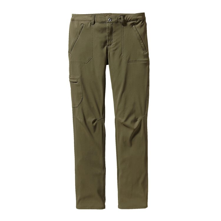 W'S SIDESEND PANTS - SHORT, Fatigue Green (FTGN)