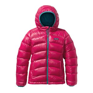Girls' Hi-Loft Down Sweater Hoody, Magic Pink (MAGP)