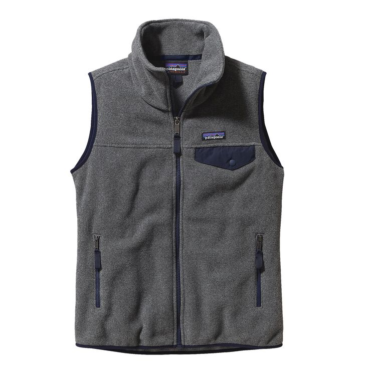 W'S SNAP-T VEST, Nickel w/Navy Blue (NKNV)