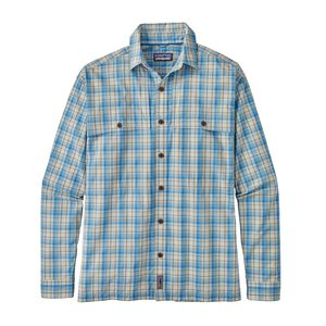 M's Long-Sleeved Island Hopper II Shirt, Riffle Hitch: Railroad Blue (RIFR)