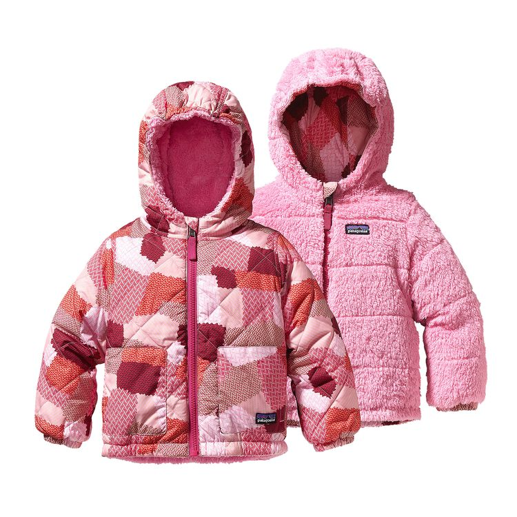 BABY REVERSIBLE TRIBBLES JKT, Patches: Rosy Posy Pink (PTRP)