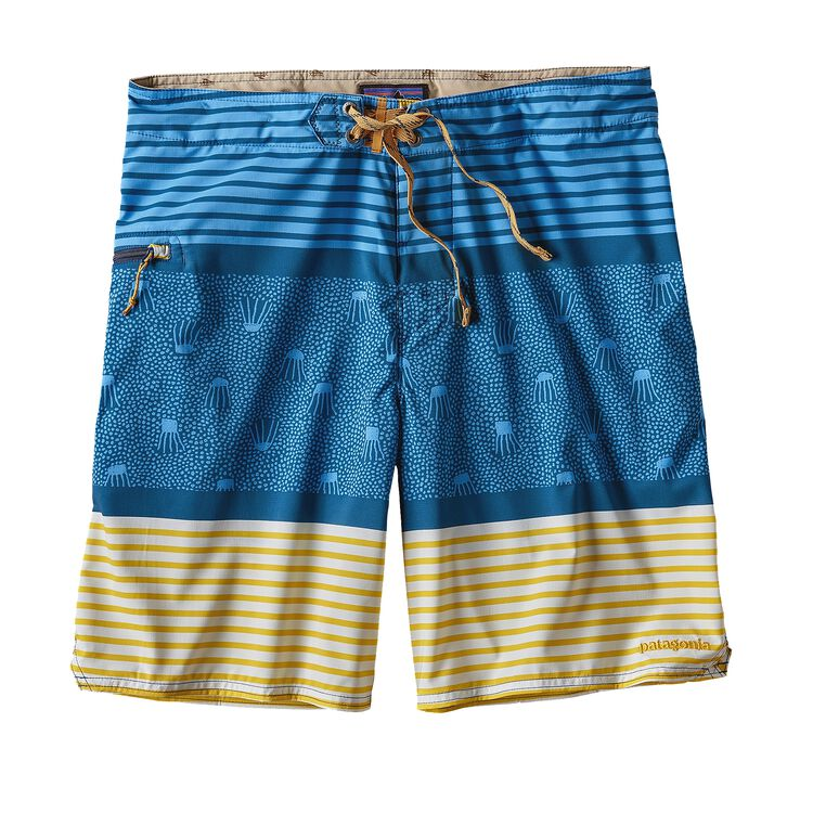 M'S STRETCH PLANING BOARDSHORTS - 20 IN., Jellyfish Stripe: Big Sur Blue (JSBB)