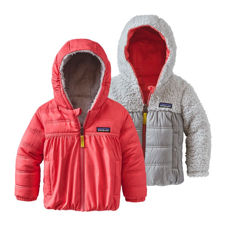 BABY REVERSIBLE HONEY PUFF HOODY, Indy Pink (IDYP)