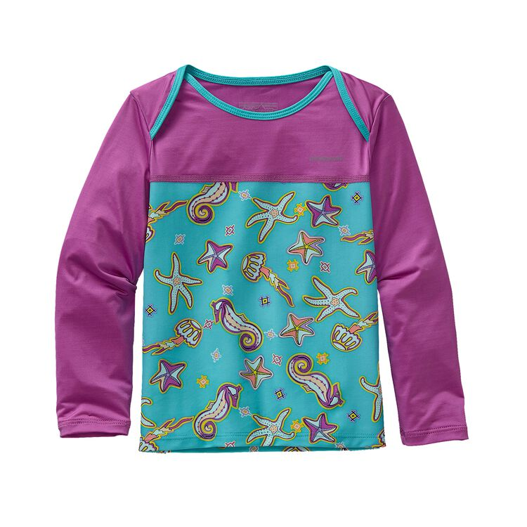 BABY LITTLE SOL RASHGUARD, Dream Tides: Howling Turquoise (DTHT)