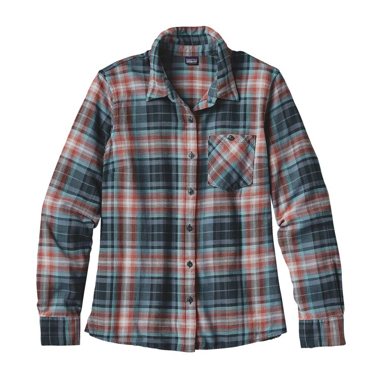 W'S HEYWOOD FLANNEL SHIRT, Rootsy: Carbon (ROCN)