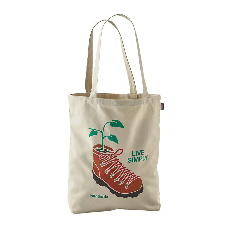 CANVAS BAG, Live Simply Planted: Bleached Stone (LSPB)