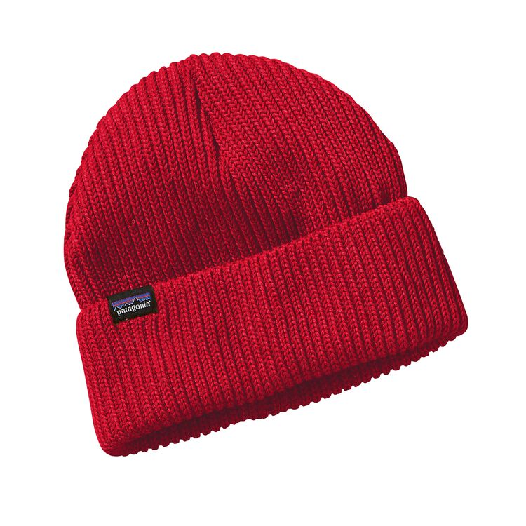 FISHERMANS ROLLED BEANIE, French Red (FRR)