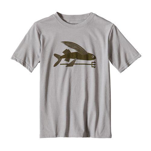 ボーイズ・フライング・フィッシュ・コットン/ポリ・Tシャツ, Drifter Grey (DFTG)