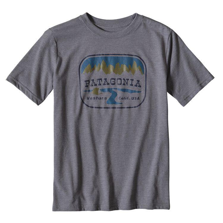 ボーイズ・ポインテッド・ウエスト・コットン/ポリ・Tシャツ, Narwhal Grey (NHG)