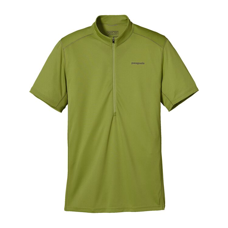 M'S S/S FORE RUNNER ZIP NECK, Supply Green (SPYG)