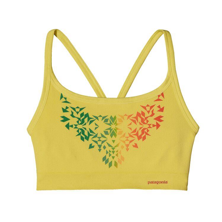ウィメンズ・アクティブ・メッシュ・ブラ, Ombre Stencil: Pineapple (OMPA-992)