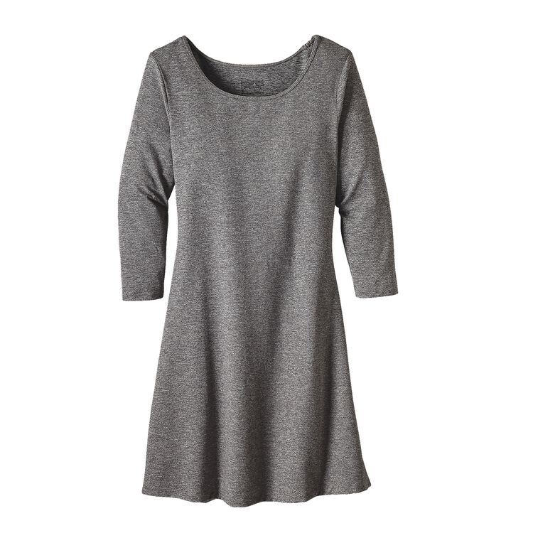 W'S 3/4 SLEEVE SEABROOK DRESS, Drifter Grey (DFTG)