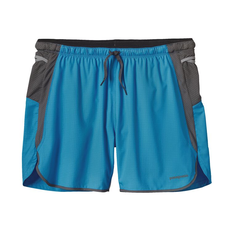 M'S STRIDER PRO SHORTS - 5 IN., Tumalo Grid: Electron Blue (TMEB)