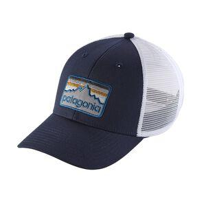 ライン・ロゴ・バッジ・ロープロ・トラッカー・ハット, Navy Blue (NVYB)