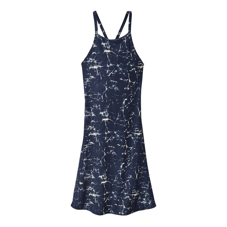W'S SLIDING ROCK DRESS, Crackle: Classic Navy (CRKC)