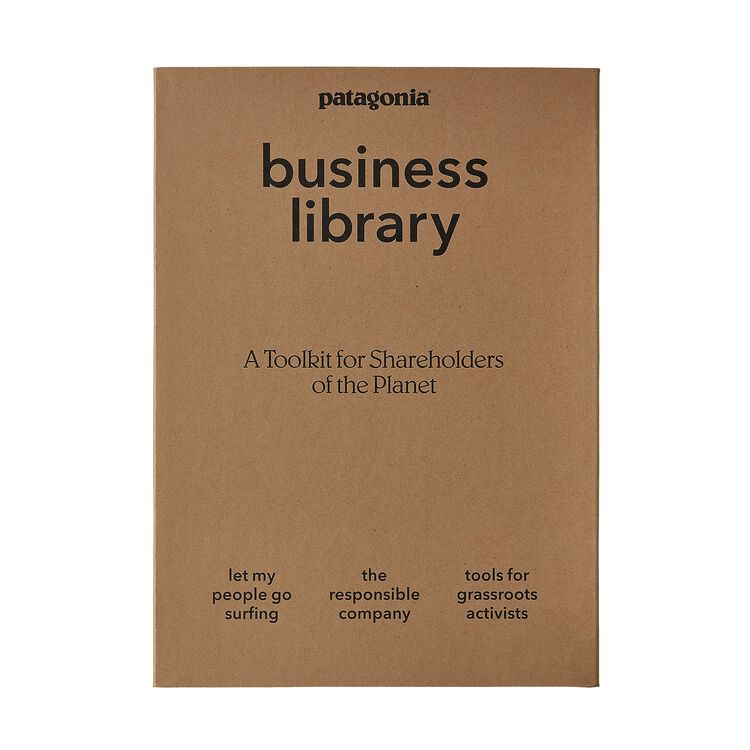 Patagonia Business Library: Including Let My People Go Surfing, The Responsible Company, and Tools for Grassroots Activists (3 paperback books in a cardboard keepsake box),