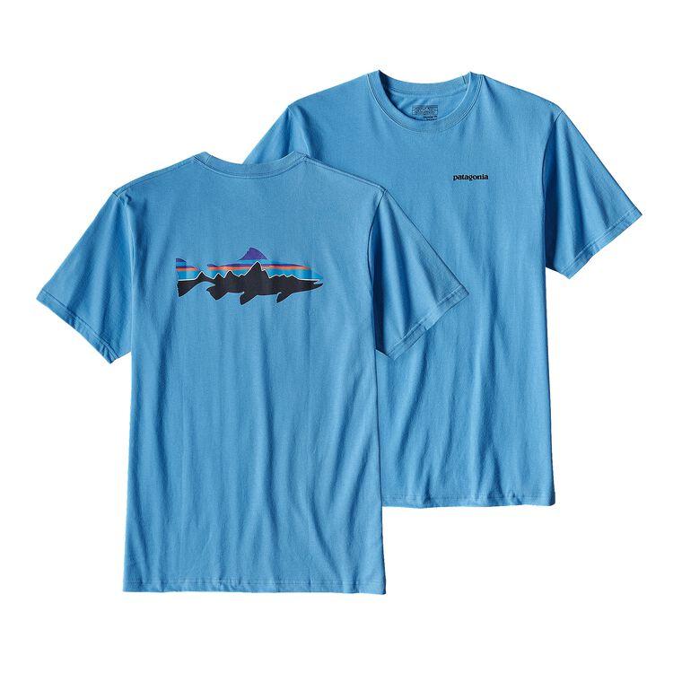 メンズ・フィッツロイ・トラウト・コットン・Tシャツ, Radar Blue (RAD)
