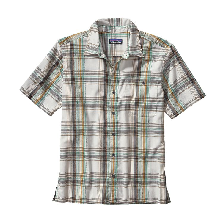 M'S PUCKERWARE SHIRT, Ventana: Birch White (VTBH)