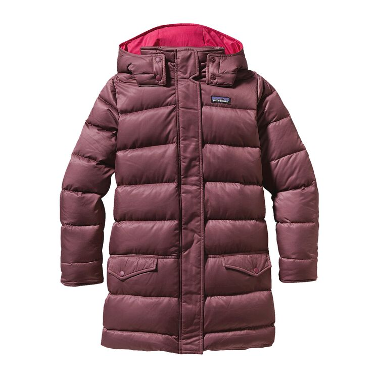GIRLS' DOWN FOR FUN COAT, Oxblood Red (OXRD)