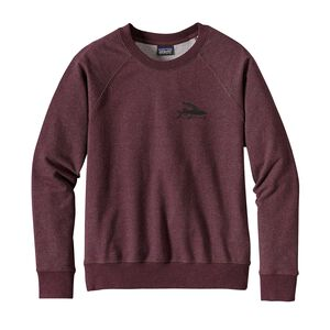 W's Flying Fish Midweight Crew Sweatshirt, Dark Ruby (DAK)