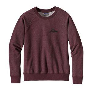 W's Flying Fish Midweight Crew Sweatshirt, Dark Ruby (DAK)
