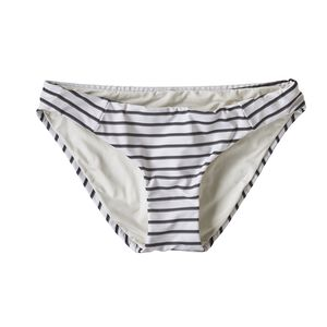 W's Sunamee Bikini Bottoms, Sentinel Stripe Small: Ink Black (SENI)