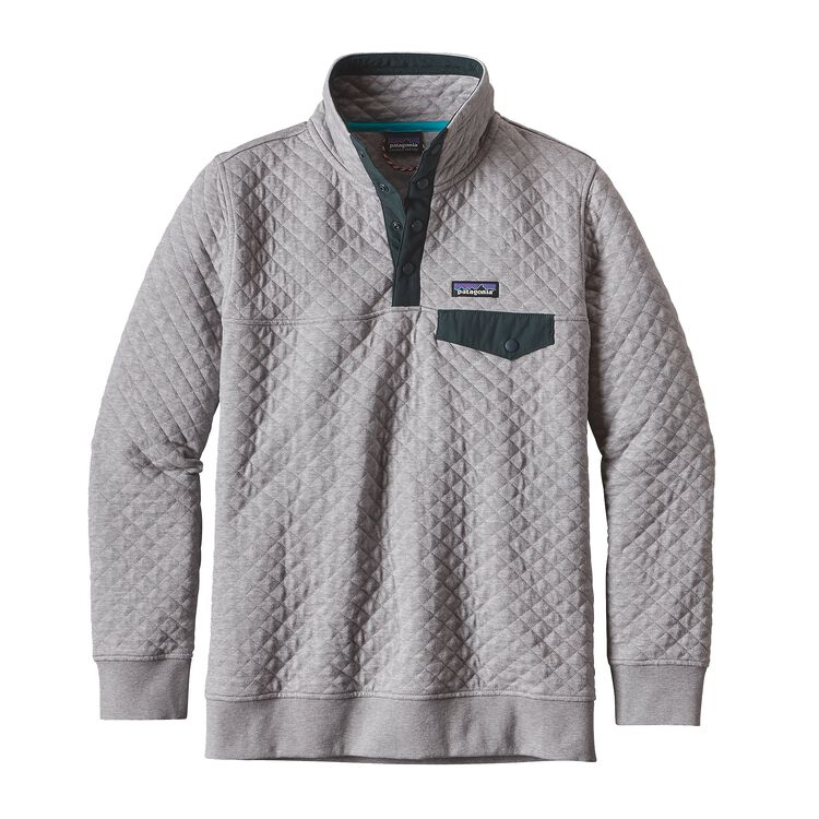W'S COTTON QUILT SNAP-T P/O, Drifter Grey (DFTG)