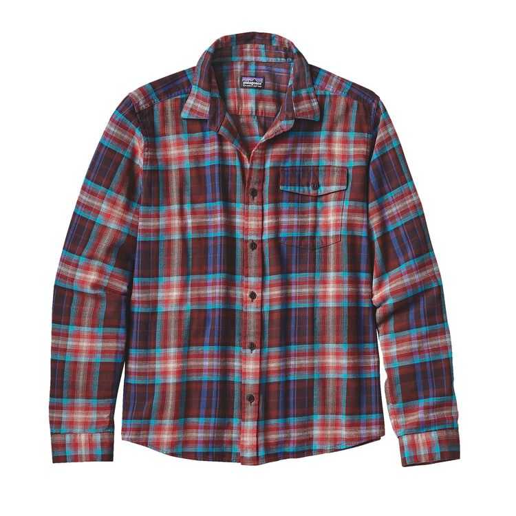 M'S L/S LW FJORD FLANNEL SHIRT, Rootsy: Cinder Red (ROCR)