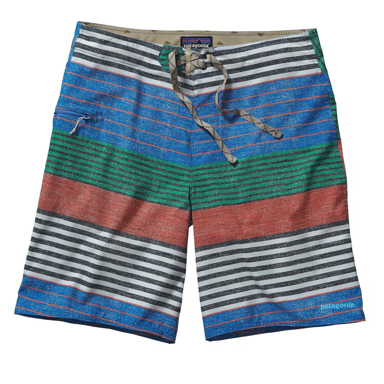 M'S PRINTED STRETCH PLANING BOARD SHORTS, Stripe of Stripes Texture: Bandana Blue (STBA)