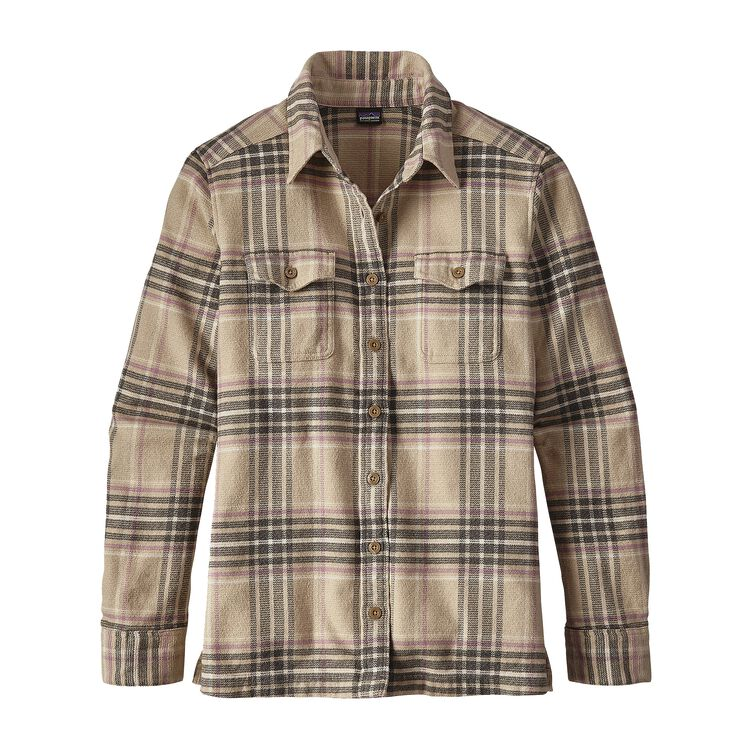 W'S L/S FJORD FLANNEL SHIRT, Big Sky Plaid: Mojave Khaki (BYMJ)